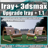 Iray + 1.1 in 3dsmax 2017 Upgrade Vol 5.0 Cd Front