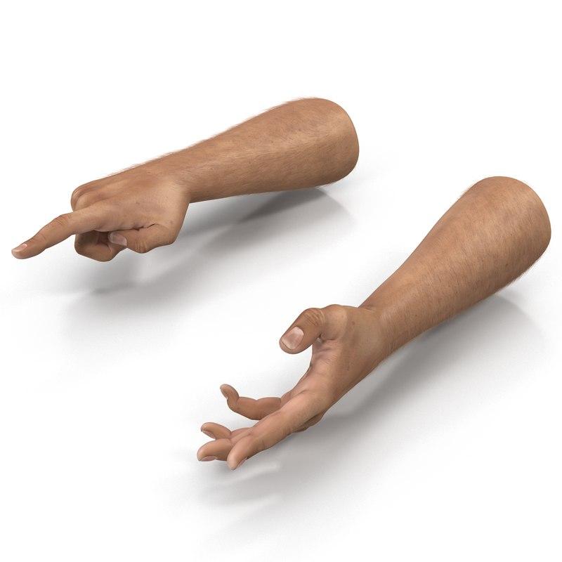 Man Hands Rigged 3dsmax vray 3d model 01.jpg
