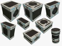 sci fi box 3d model
