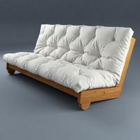 sofa futon ikea 3d max