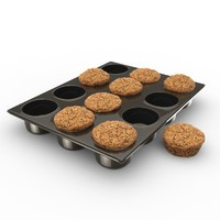 muffin pan obj