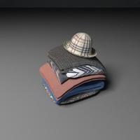 3d model pile cloth