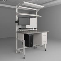3d height adjustable workbench