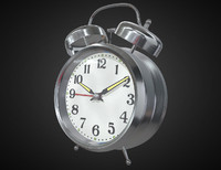 bell alarm clock 3d obj