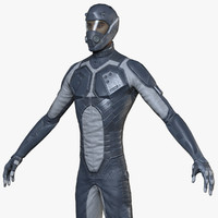 stylised sci-fi soldier male character 3d model