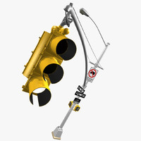 3d new york style traffic light model