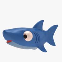 3d model toy shark