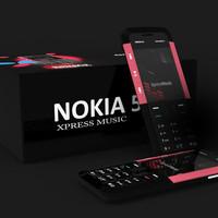 xpress music mobile 3d model