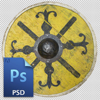 Early medieval circular shield.
