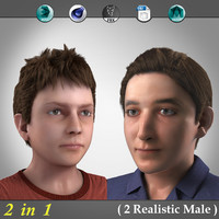 3d 2 realistic boys real