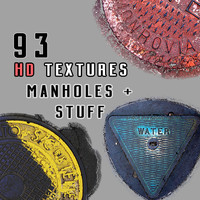 93 HD Manholes and More Textures