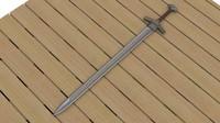 3d model sword ancient