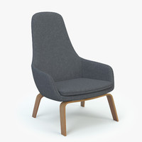 3d normann copenhagen era lounge chair model