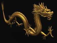 3d ancient dragon chinese