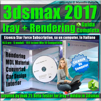 Iray + 3ds max 2017 Rendering Guida Completa Locked Subscription, un Computer