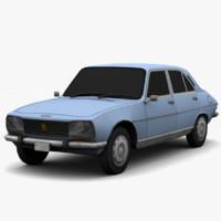 3d model peugeot 504 - color