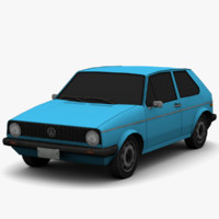 golf mk1 - color 3d 3ds