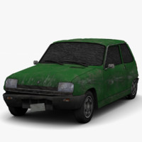 renault 5 - damaged 3d model