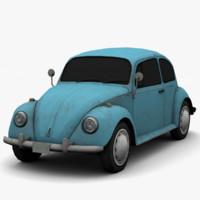 volkswagen beetle classic - 3d model