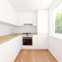 3d model interior home kitchen scene