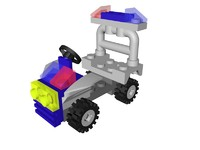 3d lego city police quad