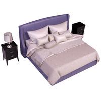 3d model bed venezia