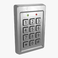 keypad pad 3d max