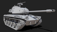 3d model of m41 walker bulldog tank