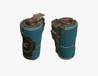 3d model sci fi grenade