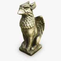 3d griffon statue model