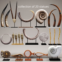 set statues sculptures 3d max