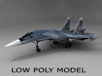 su 34 bomber 3d fbx