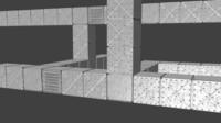 modular air ducts - 3d obj