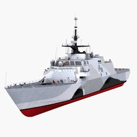 uss freedom ship littoral combat 3d 3ds