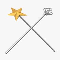 princess sceptre 3d max