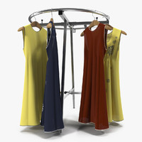 3d clothing rack 3 model