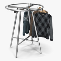 clothing rack 2 3d model
