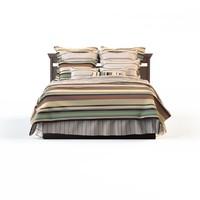 linens strip bed calico 3d max
