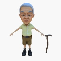 man stick old 3d max