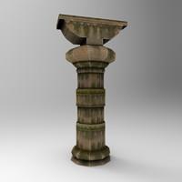 3d stone pillar 5 model