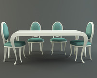 3d model of avantgarde dining set