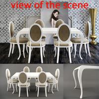 3d model avantgarde table dining
