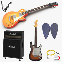 guitar equipment 3d model