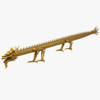 ancient straight dragon 3d max