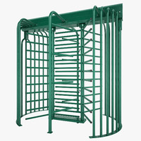 galvanized steel turnstile 3ds