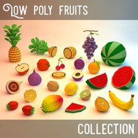 low poly fruits collection (game ready)