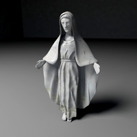 3d virgin mary statue