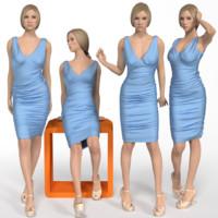 3d shop window woman mannequin