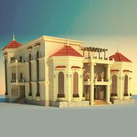 architecture building villa 3d max