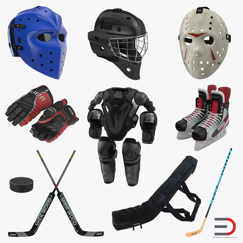 Hockey Equipment Collection 3d models 000.jpg
